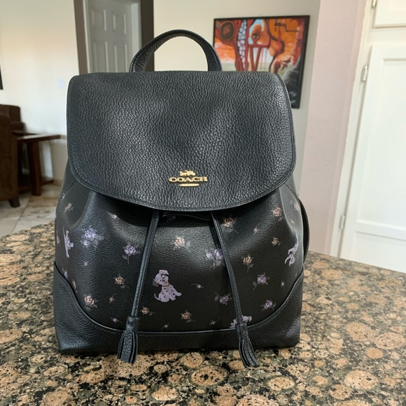 Coach Handbags - Coach Disney X Dalmatian Floral Print Elle Backpak